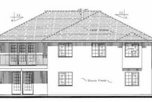 Mediterranean Exterior - Rear Elevation Plan #18-251