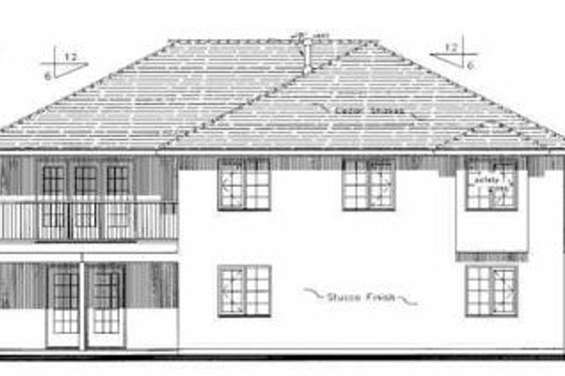 Mediterranean Exterior - Rear Elevation Plan #18-251 - Houseplans.com