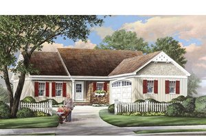 Ranch Exterior - Front Elevation Plan #137-364