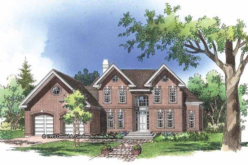 Colonial Exterior - Front Elevation Plan #929-159 - Houseplans.com