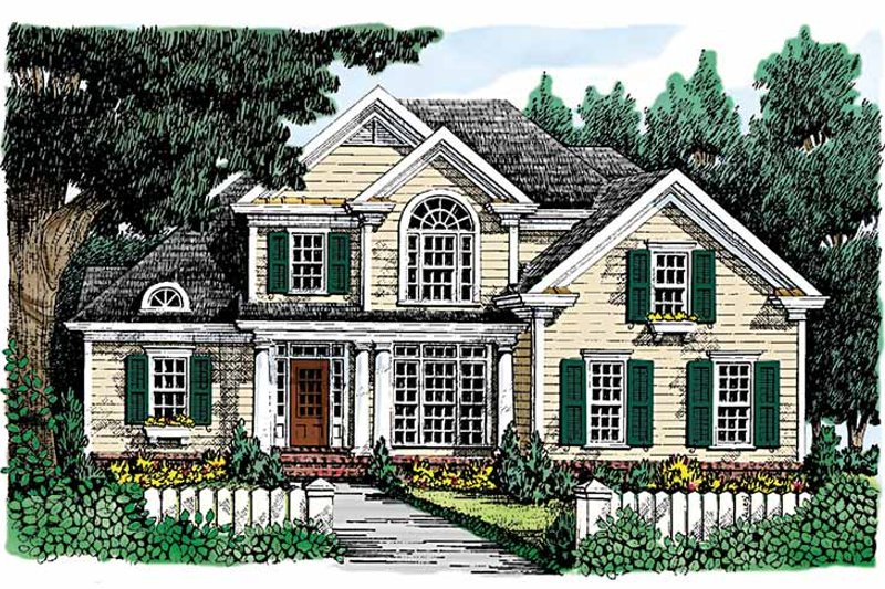 Country Exterior - Front Elevation Plan #927-691