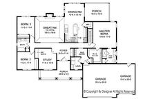 Ranch Floor Plan - Main Floor Plan Plan #1010-193