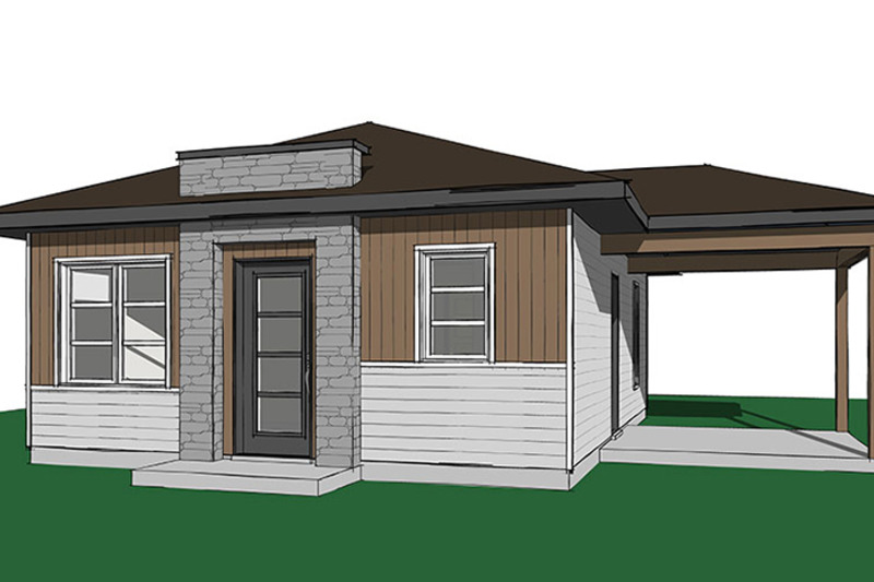 Ranch style house plan 2 beds 1 baths 640 sq ft plan 23 for Dream home source canada
