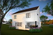 Country Style House Plan - 3 Beds 2.5 Baths 2178 Sq/Ft Plan #70-1463 Exterior - Rear Elevation