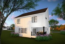 House Plan Design - Country Exterior - Rear Elevation Plan #70-1463