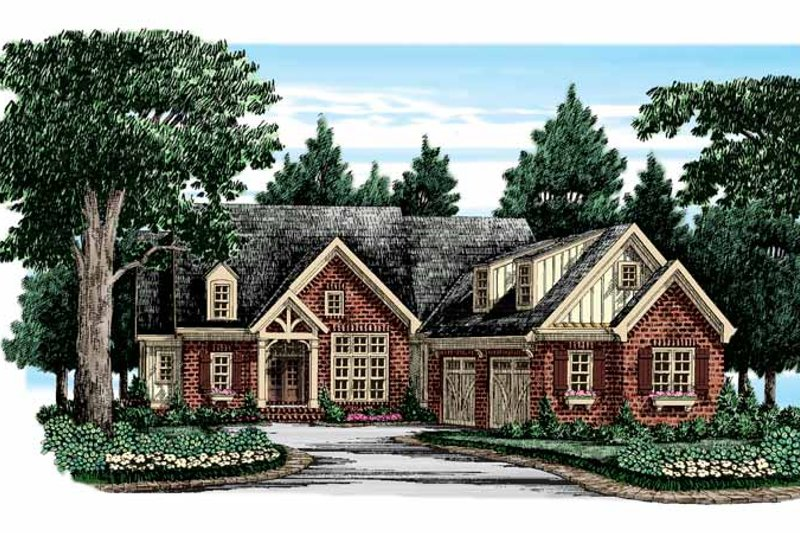 European Exterior - Front Elevation Plan #927-350
