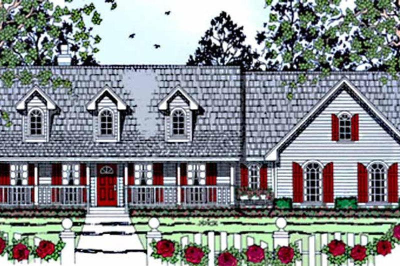 Country Exterior - Front Elevation Plan #42-675