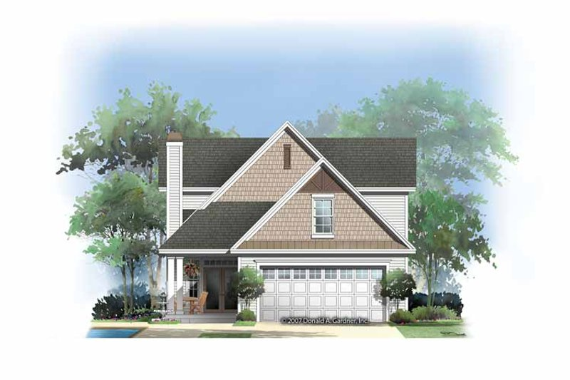Craftsman Exterior - Rear Elevation Plan #929-837 - Houseplans.com