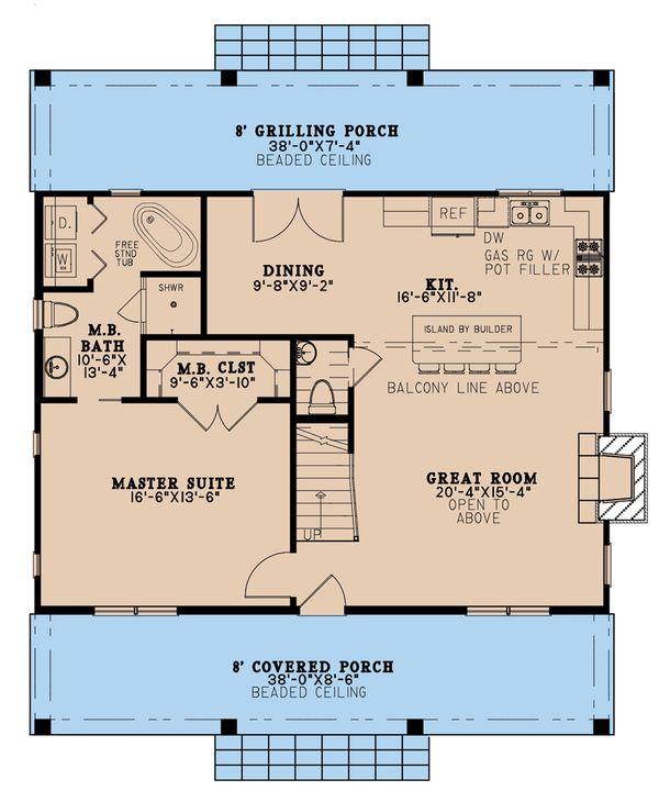 Home Plan - Country Floor Plan - Main Floor Plan #923-207