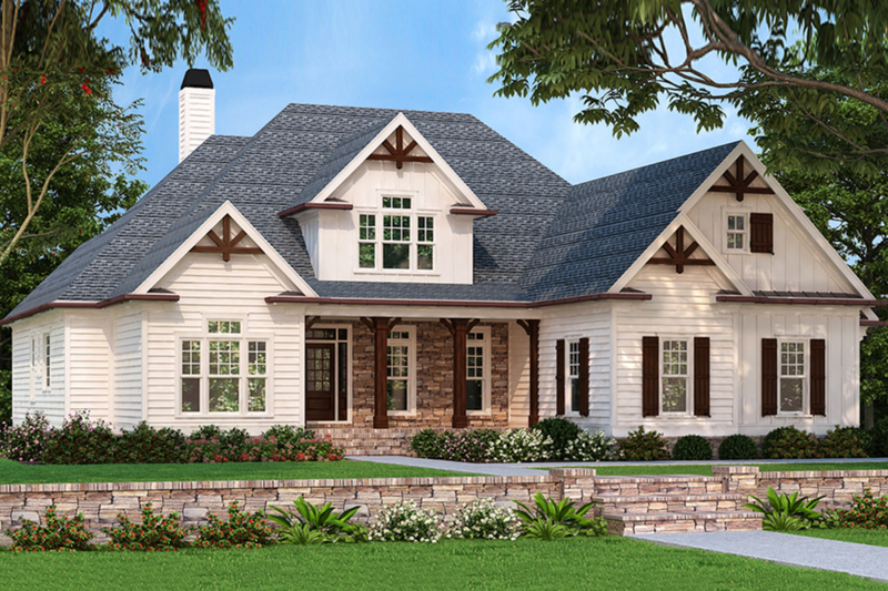 Country Exterior - Front Elevation Plan #927-287