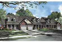 Home Plan - Country Exterior - Front Elevation Plan #17-3027