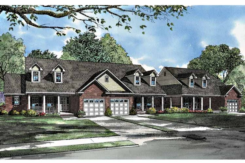 Country Exterior - Front Elevation Plan #17-3027 - Houseplans.com
