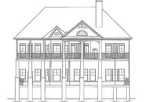 Craftsman Exterior - Rear Elevation Plan #54-275