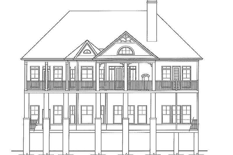 Craftsman Exterior - Rear Elevation Plan #54-275 - Houseplans.com