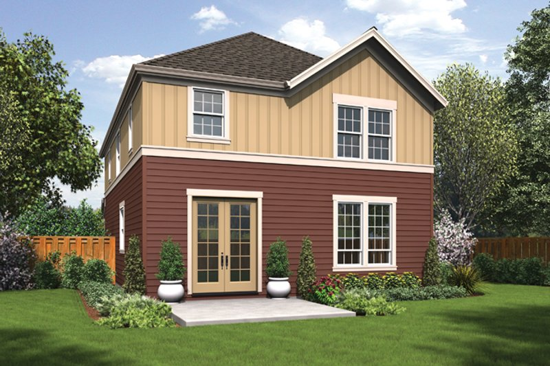 Traditional Exterior - Rear Elevation Plan #48-912 - Houseplans.com