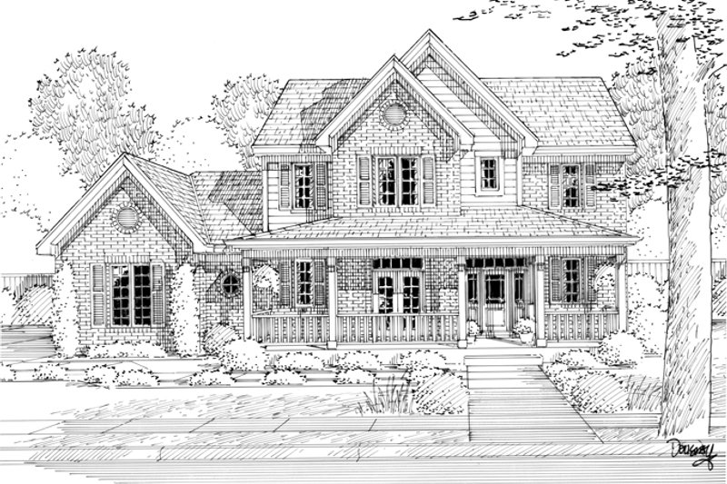 Traditional Exterior - Front Elevation Plan #46-800 - Houseplans.com