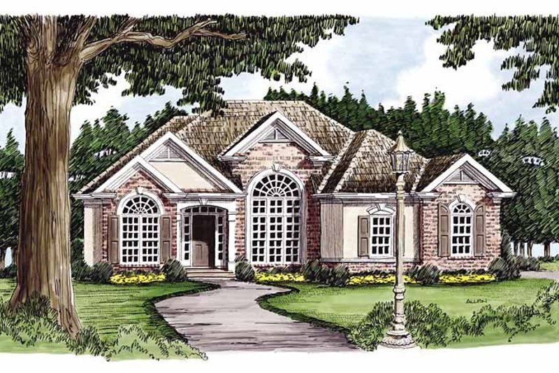 European Exterior - Front Elevation Plan #927-113