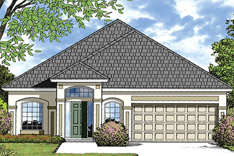 European Exterior - Front Elevation Plan #417-827