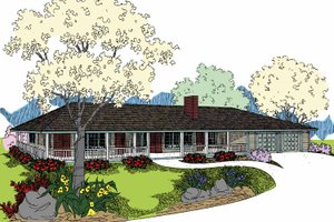 House Design - Ranch Exterior - Front Elevation Plan #60-1005