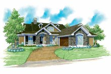Architectural House Design - Country Exterior - Front Elevation Plan #930-177
