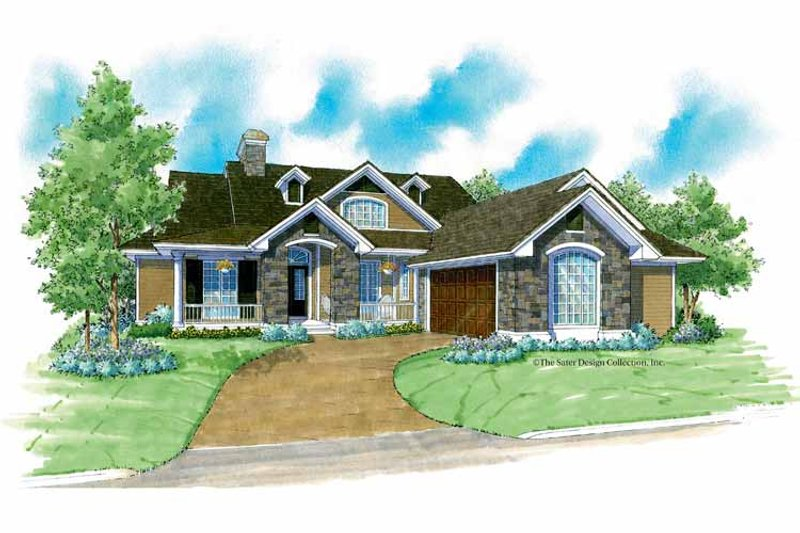 Country Exterior - Front Elevation Plan #930-177