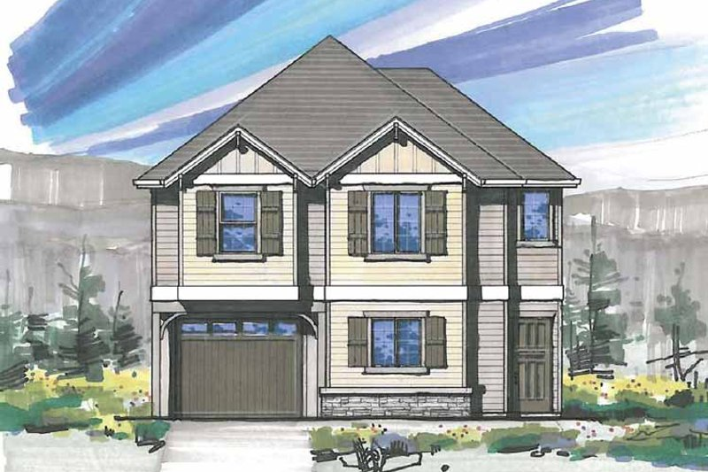 Traditional Exterior - Front Elevation Plan #509-168 - Houseplans.com