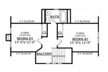 Craftsman Floor Plan - Upper Floor Plan Plan #314-276