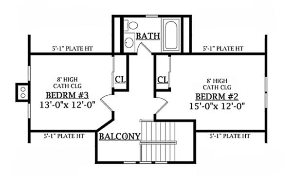 Dream House Plan - Craftsman Floor Plan - Upper Floor Plan #314-276