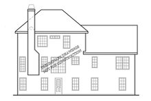 Home Plan - Traditional Exterior - Rear Elevation Plan #927-717