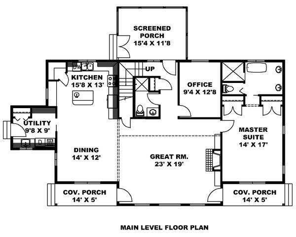 Dream House Plan - Farmhouse Floor Plan - Main Floor Plan #117-897
