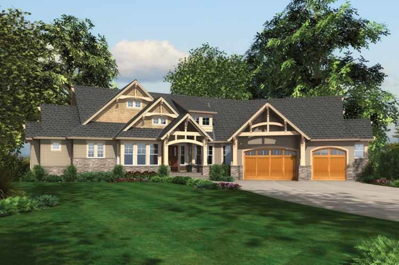 Craftsman Exterior - Front Elevation Plan #132-561 - Houseplans.com