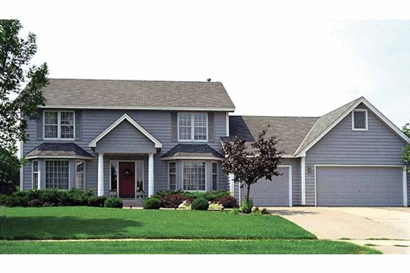 Colonial Exterior - Front Elevation Plan #51-709