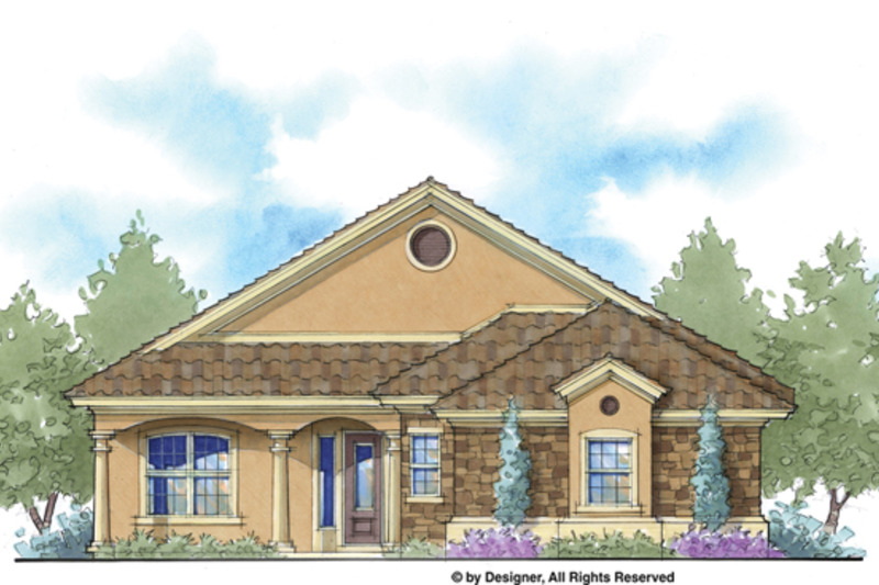Mediterranean Exterior - Front Elevation Plan #938-67 - Houseplans.com