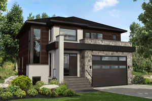 Dream House Plan - Contemporary Exterior - Front Elevation Plan #25-4914