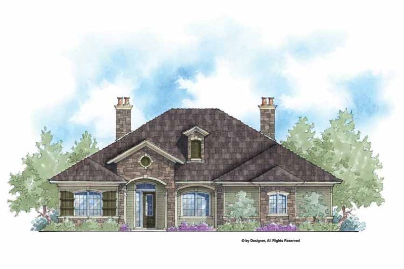 Home Plan - Country Exterior - Front Elevation Plan #938-59