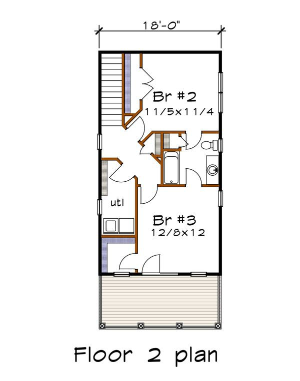 Craftsman Floor Plan - Upper Floor Plan #79-303
