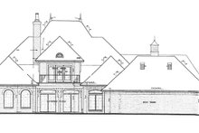 European Exterior - Rear Elevation Plan #310-1256