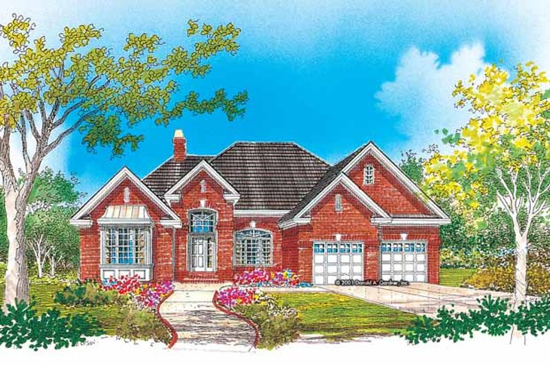 Ranch Exterior - Front Elevation Plan #929-656