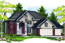 Traditional Exterior - Front Elevation Plan #70-704