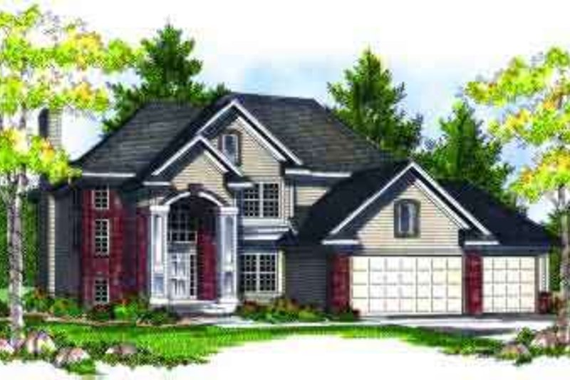 Traditional Exterior - Front Elevation Plan #70-704 - Houseplans.com