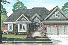 Home Plan - European Exterior - Front Elevation Plan #46-851