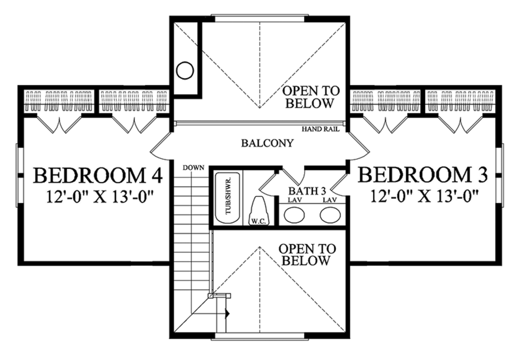 Traditional Style House Plan 4 Beds 3 Baths 2556 Sq Ft