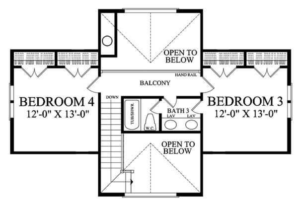 Traditional Floor Plan - Upper Floor Plan Plan #137-367