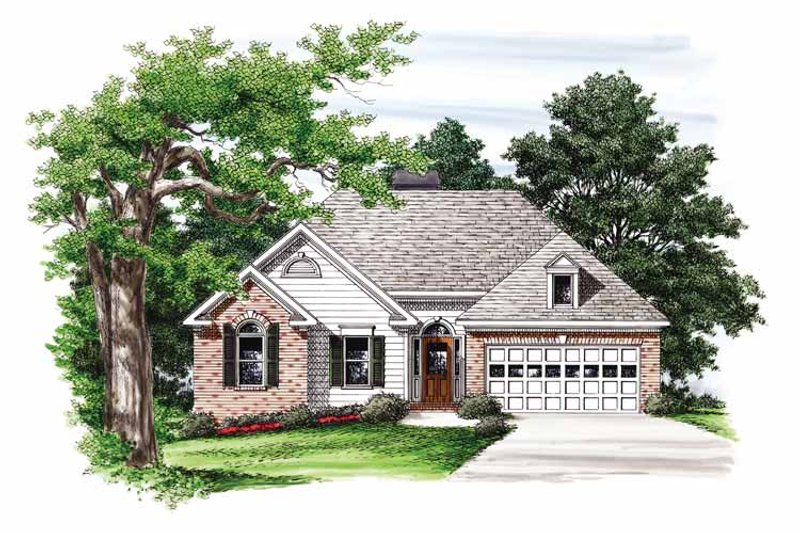 Ranch Exterior - Front Elevation Plan #927-591