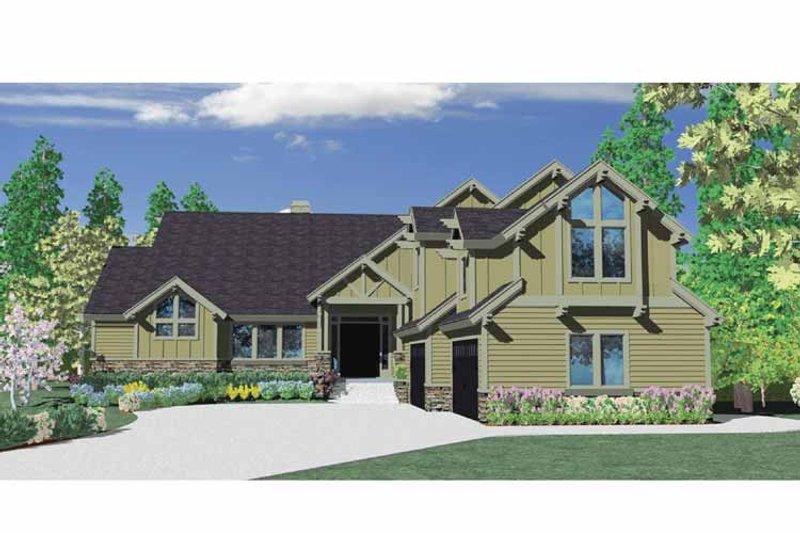 Craftsman Exterior - Front Elevation Plan #509-392 - Houseplans.com
