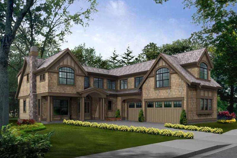 Dream House Plan - Craftsman Exterior - Front Elevation Plan #132-470