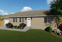 Dream House Plan - Ranch Exterior - Front Elevation Plan #1060-3