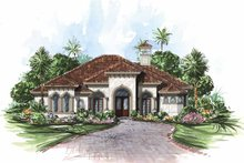 Dream House Plan - Mediterranean Exterior - Front Elevation Plan #1017-22