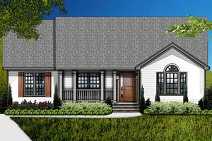 Country Exterior - Front Elevation Plan #977-9
