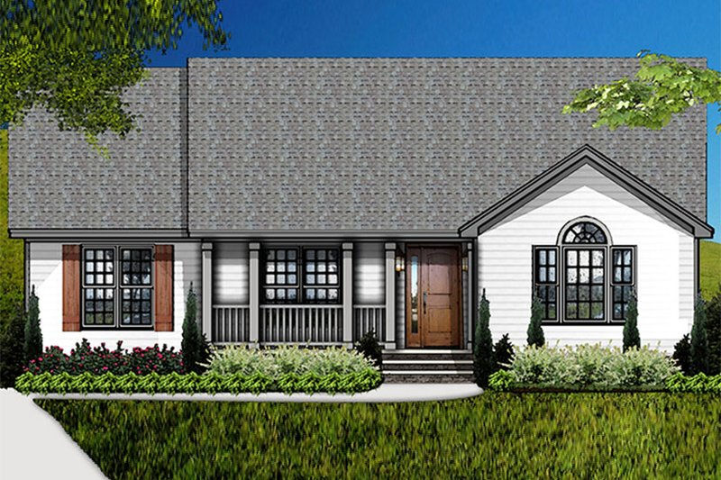 Country Exterior - Front Elevation Plan #977-9 - Houseplans.com